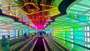 シカゴ空港ターミナル1地下通路
