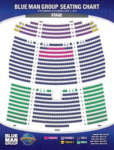 オーランドのブルーマン座席表