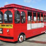 赤いシャトルバスとシレナトロリー・グアム旅行準備編4