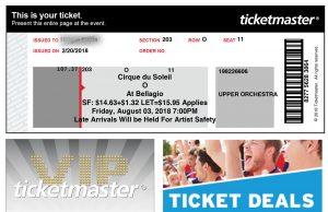 Ticketmasterのチケット