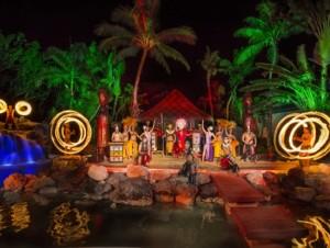 フィッシュアイマリンパークのポリネシアンディナショー