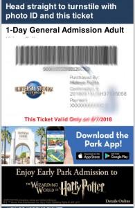 ユニバーサルスタジオ ハリウッド チケット